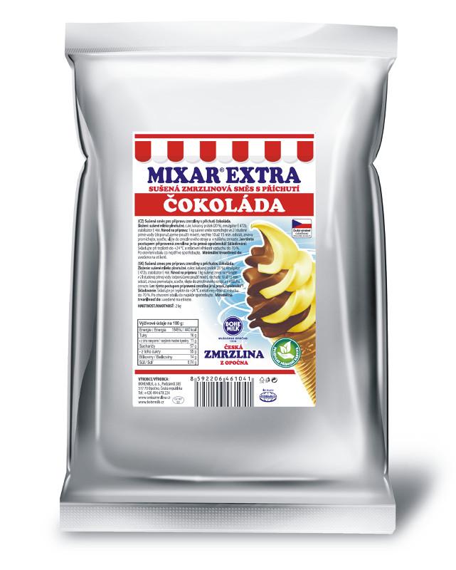 Zmrzlinová směs Bohemilk Mixar Extra Čokoláda, balení 1 kg