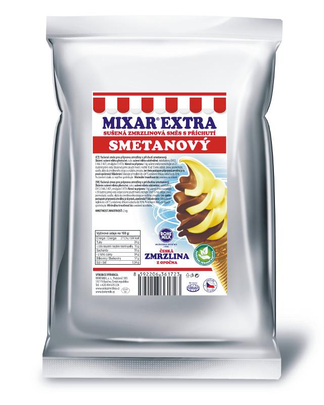 Zmrzlinová směs Bohemilk Mixar Extra Smetanový základ, balení 1 kg