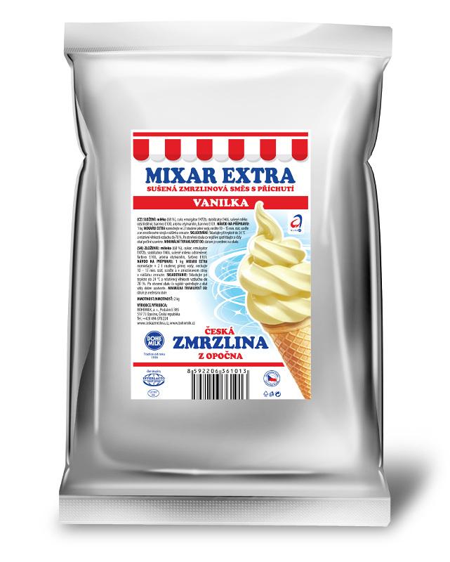 Zmrzlinová směs Bohemilk Mixar Extra Vanilka, balení 1 kg
